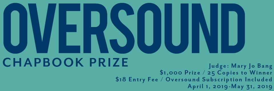 Chapbook Prize – OVERSOUND